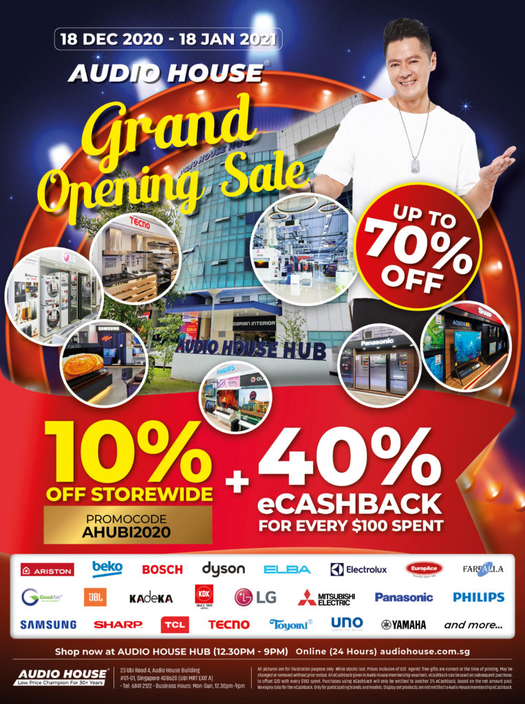 [Audio House Grand Opening Finale] Enjoy 10% Storewide + $40 eCashback with Every $100 Spent! | Why Not Deals 2