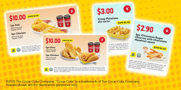 Long John Silver's Singapore Dine In & Takeaway Coupons Promotion ends 10 Feb 2021