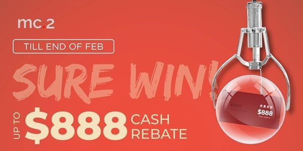 [mc.2 CNY Promo] Sure Win from $88 to $888 Cash Rebate Off Your Curtains/ Blinds Purchase!
