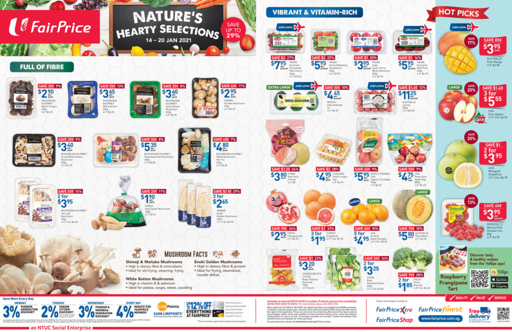 NTUC FairPrice Singapore Your Weekly Saver Promotions 14-20 Jan 2021   Why Not Deals 14
