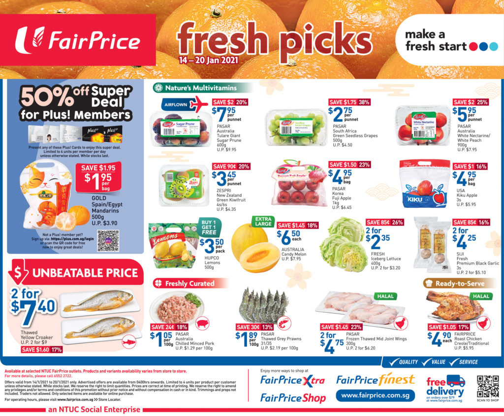 NTUC FairPrice Singapore Your Weekly Saver Promotions 14-20 Jan 2021   Why Not Deals 7