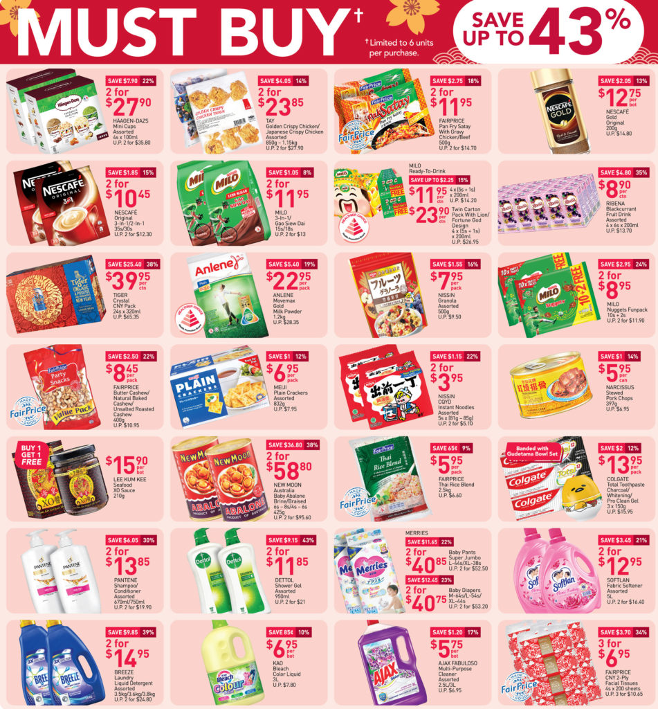 NTUC FairPrice Singapore Your Weekly Saver Promotions 14-20 Jan 2021   Why Not Deals