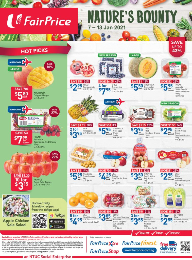 NTUC FairPrice Singapore Your Weekly Saver Promotions 7-13 Jan 2021 | Why Not Deals 9