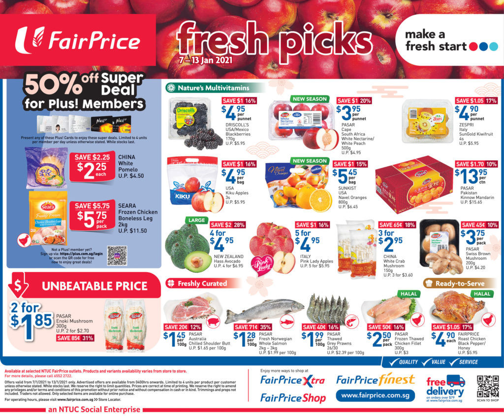 NTUC FairPrice Singapore Your Weekly Saver Promotions 7-13 Jan 2021 | Why Not Deals 6