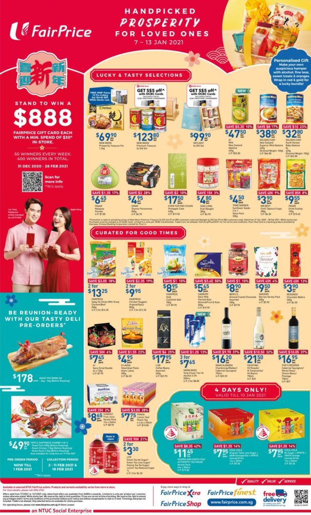 NTUC FairPrice Singapore Your Weekly Saver Promotions 7-13 Jan 2021 | Why Not Deals 7
