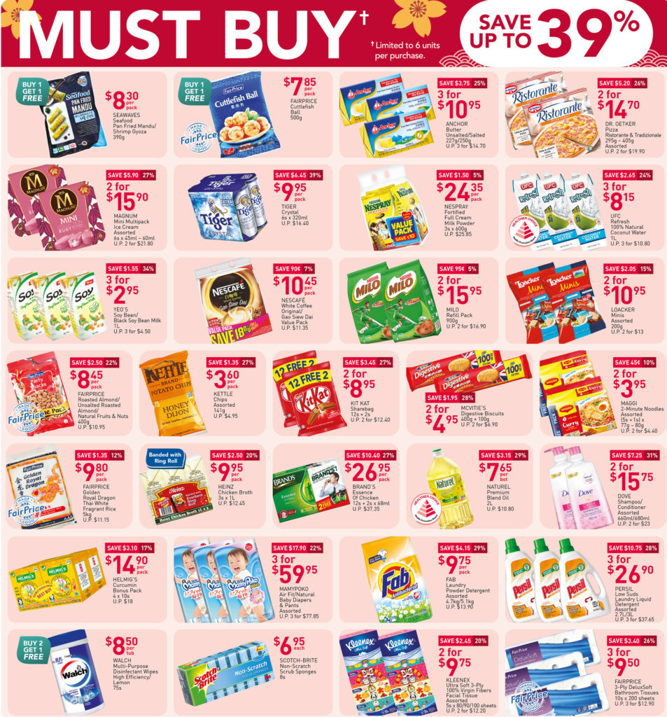 NTUC FairPrice Singapore Your Weekly Saver Promotions 7-13 Jan 2021 | Why Not Deals
