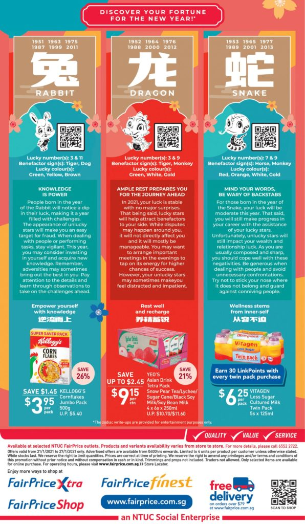 NTUC FairPrice Singapore Your Weekly Saver Promotions   Why Not Deals 9