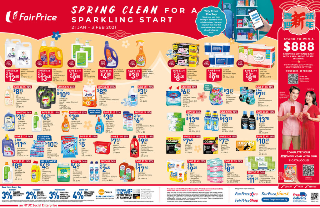 NTUC FairPrice Singapore Your Weekly Saver Promotions   Why Not Deals 10