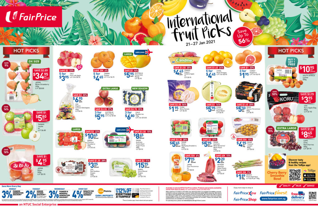 NTUC FairPrice Singapore Your Weekly Saver Promotions   Why Not Deals 11