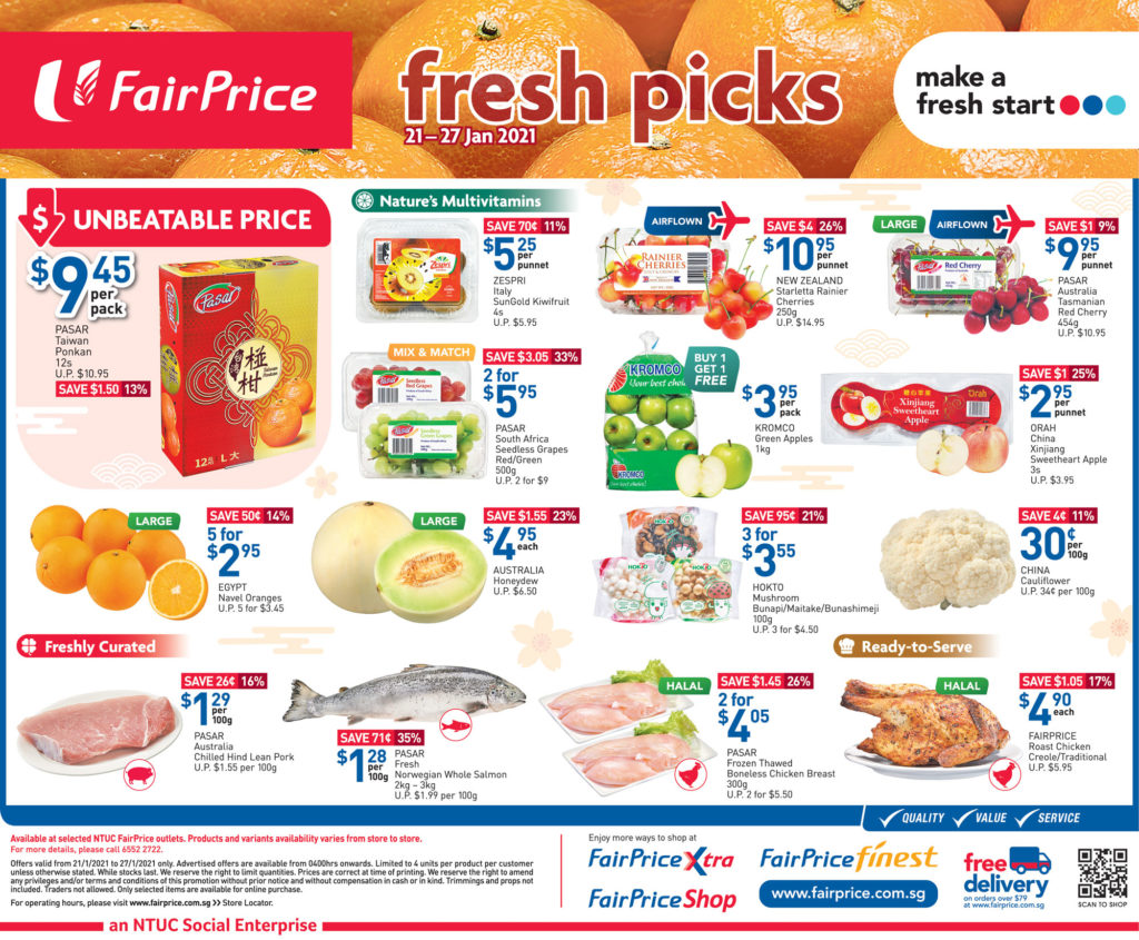 NTUC FairPrice Singapore Your Weekly Saver Promotions   Why Not Deals 6