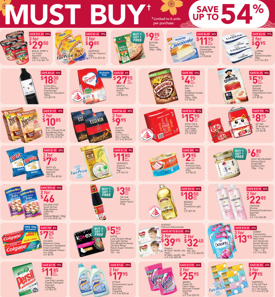 NTUC FairPrice Singapore Your Weekly Saver Promotions   Why Not Deals