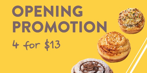 OPENING PROMO – Specialty Cinnamon Rolls Kiosk rrooll with Sweet And Savoury Flavours