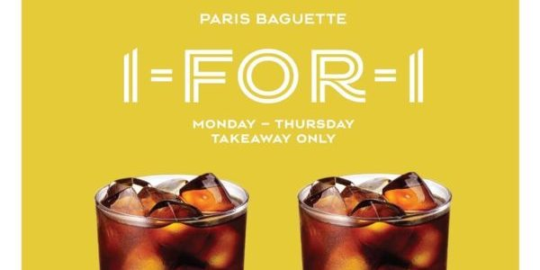 Paris Baguette Singapore 1-for-1 Cold Brew Coffee From Mon-Thu Promotion While Stocks Last