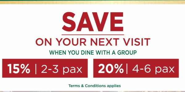 Save up to 20% off on your next visit at Tim Ho Wan when you dine with a group
