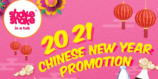 Shake Shake In A Tub Celebrates CNY 2021 with Cute, Quirky Limited Edition Red Packets and up to 50% Off Promotion