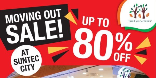 The Cocoa Trees Singapore Suntec City Moving Out Sale Up To 80% Off Promotion 1-20 Jan 2021