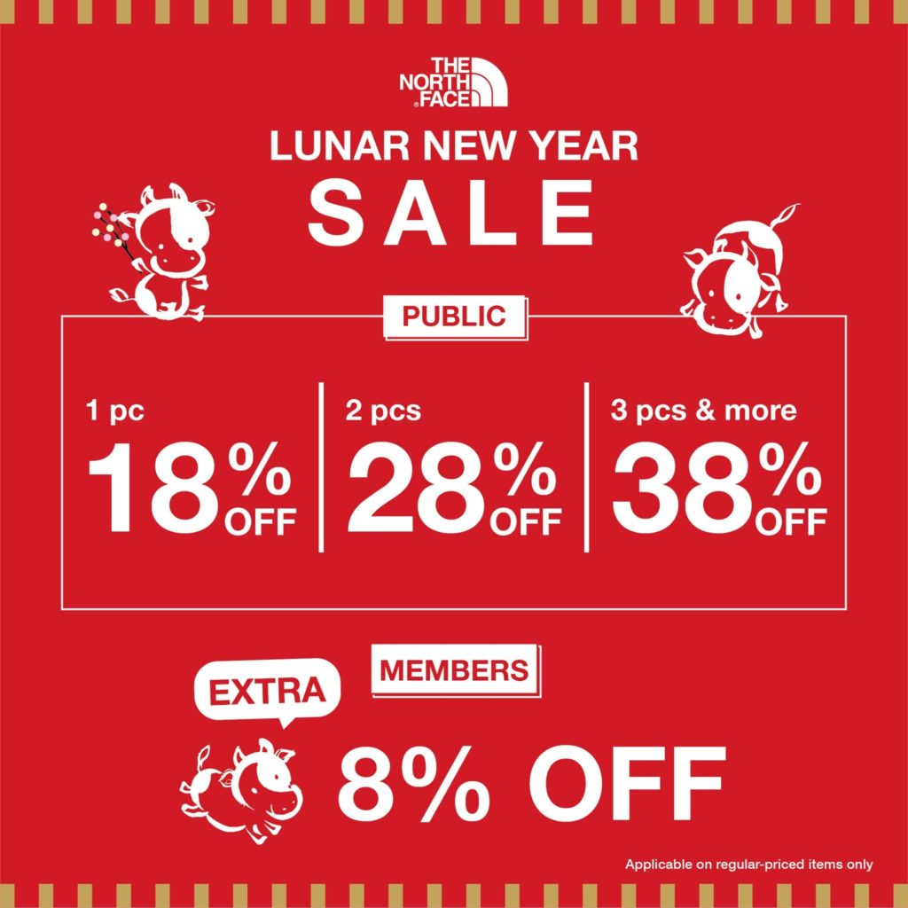 The North Face Singapore Lunar New Year Sale Up To 38% Off Promotion 14 Jan - 15 Feb 2021 | Why Not Deals 1