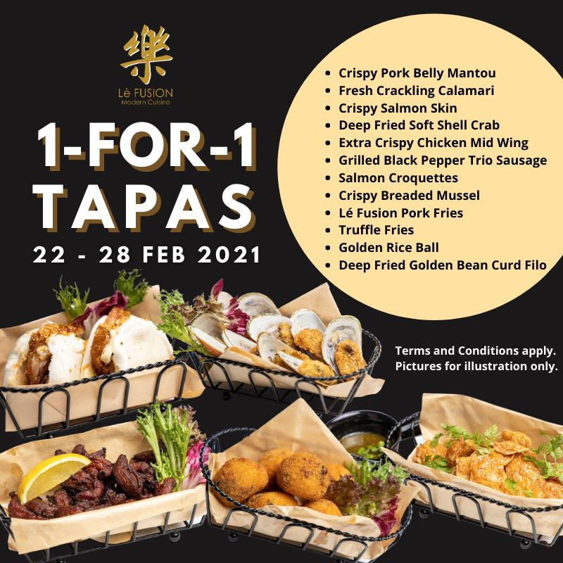 Lè Fusion Restaurant Offers 1-for-1 Tapas Till 28 Feb! | Why Not Deals 1