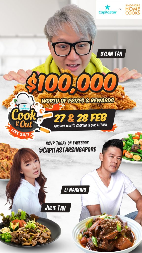Win Cooking Appliances,eCapitaMall vouchers & more during CapitaStar Cook it Out Live this weekend | Why Not Deals 1