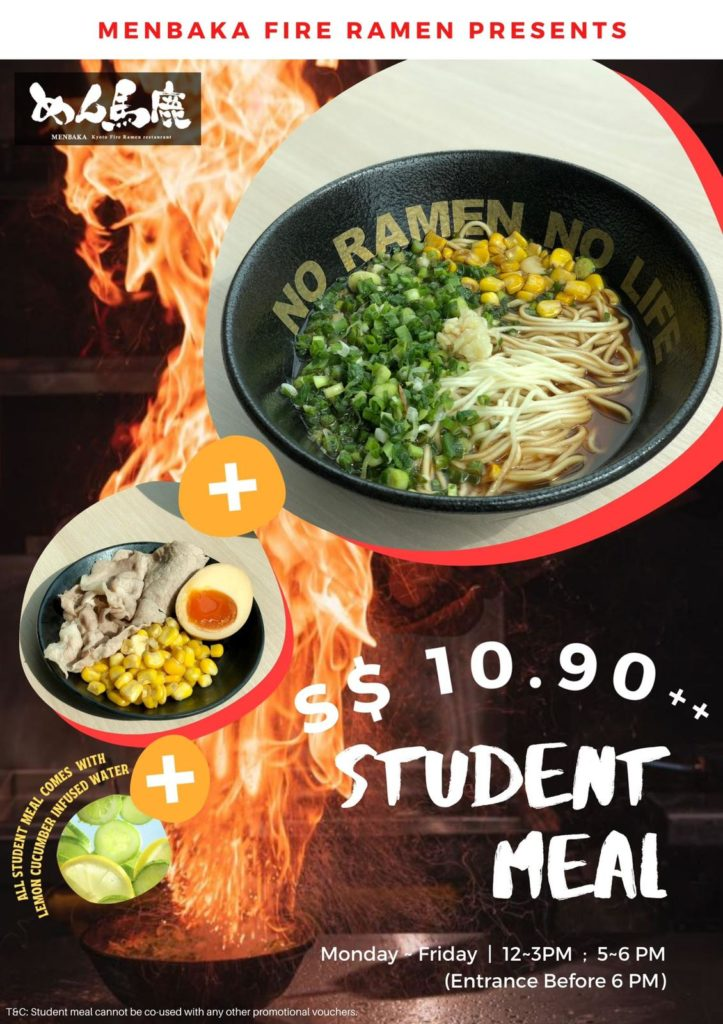 Enjoy Menbaka's super value student meal this March holiday! | Why Not Deals 1