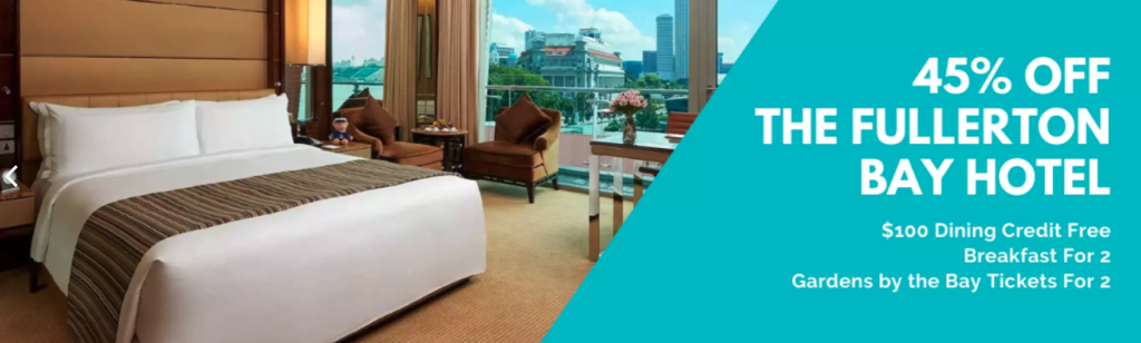 [FLASH DEAL] The Fullerton Bay Hotel Staycation Package - KKday Exclusive Up To 45% Off | $100 Dining Credit Free | Why Not Deals
