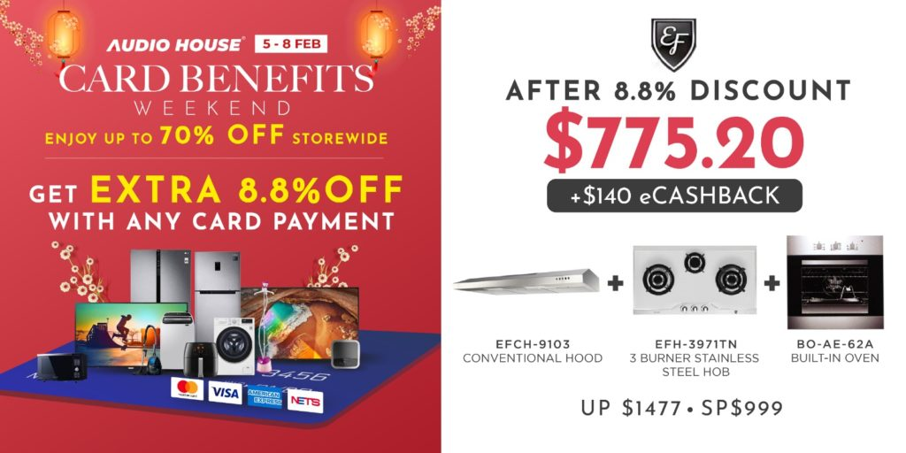 [Audio House Card Benefits Weekend] Enjoy Extra 8.8% OFF with Any Card Payment! | Why Not Deals 1