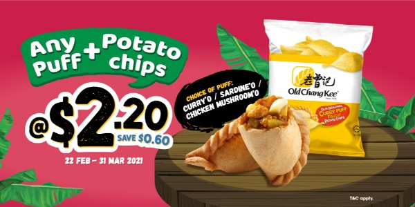 Any Puff + Curry Puff Flavor Potato Chips @ $2.20