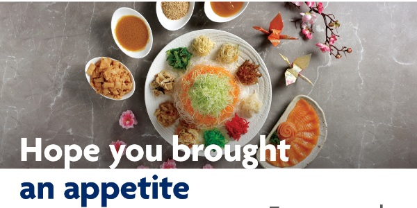 Enjoy a Free Upgrade on your Sushi Tei Prosperity Yusheng with your UOB Card this Chinese New Year!