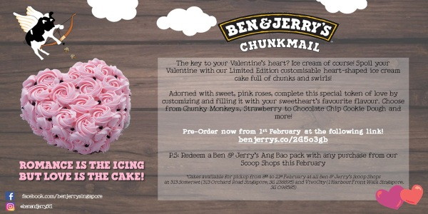 [Event Listing] Ben & Jerry's Valentine's Day Ice Cream Cake Offer