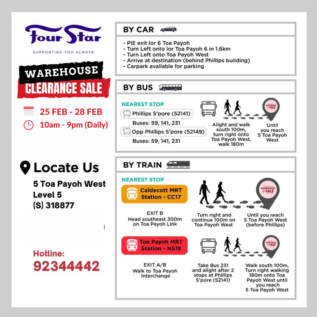 Four Star ANNUAL CLEARANCE SALE | Toa Payoh Warehouse | Why Not Deals 7