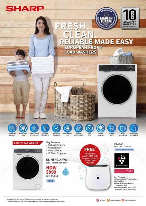 [Promotion] Sharp February Deals - Free Air Purifier with Purchase of Selected Sharp Products! | Why Not Deals 1