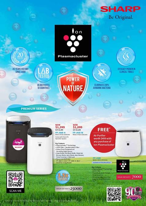 [Promotion] Sharp February Deals - Free Air Purifier with Purchase of Selected Sharp Products! | Why Not Deals 2