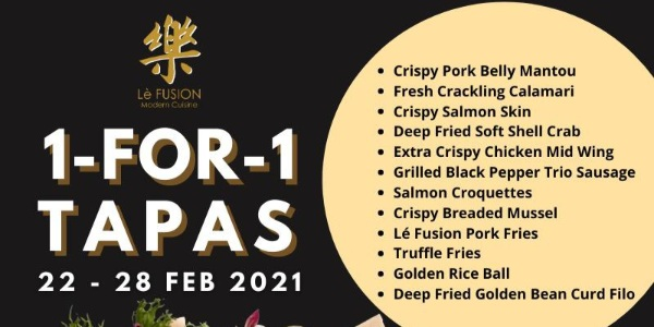 Lè Fusion Restaurant Offers 1-for-1 Tapas Till 28 Feb!