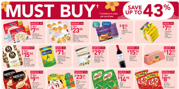 NTUC FairPrice Singapore Your Weekly Saver Promotions 4-17 Feb 2021