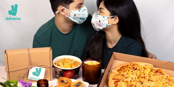 Steal A Pizza My Heart With Limited-Edition Deliveroo and Pizza Hut Valentine's Day Couple Face Mask