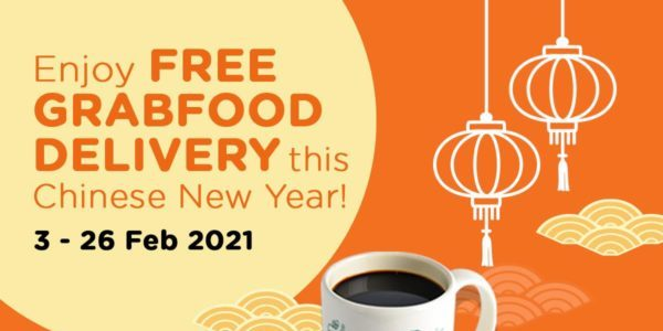 WangCafe Singapore FREE Delivery on GrabFood CNY Promotion 3-26 Feb 2021