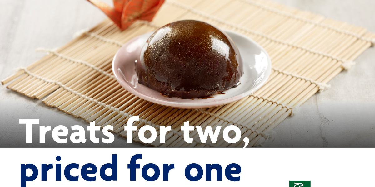 1-for-1 Chocolate Dome Cake at Sushi Tei when you use your UOB Card