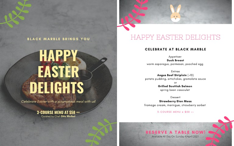 Celebrate Easter with an exquisite menu specially curated by renowned Chef Otto Weibel! | Why Not Deals