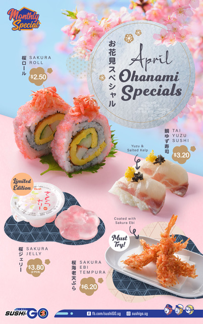 Let Sushi-GO's Shinkansen train transport the Sakura season to you with these new Ohanami specials from $2.50! | Why Not Deals