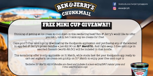 Ben & Jerry's Free Minicup Giveaway