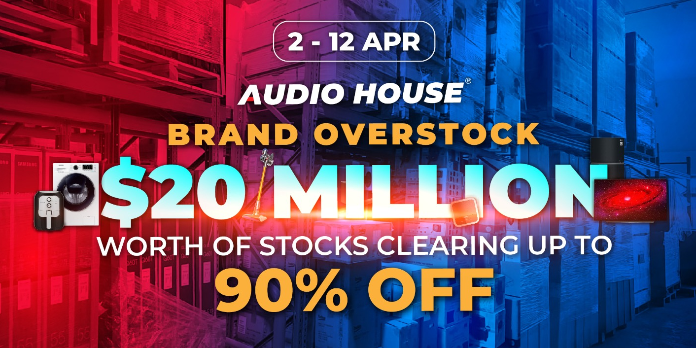 [Brand Overstock Sale] $20 Million Worth of Stocks to be Cleared at Audio House Building!