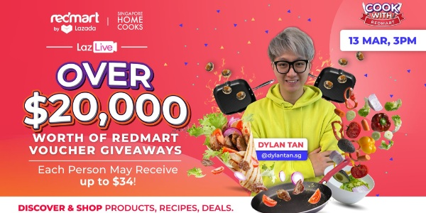 [Giveaway] $20,000 RedMart Vouchers to be given away during this Sat's RedMart live!
