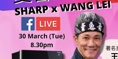 Sharp Hosts the First-ever Facebook Live with Singapore's Most Popular Sell Fish Bro, Wang Lei!