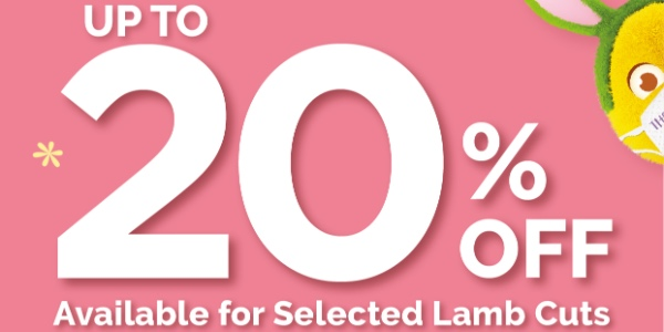 Up to 20% off selected lamb cuts at Cold Storage!