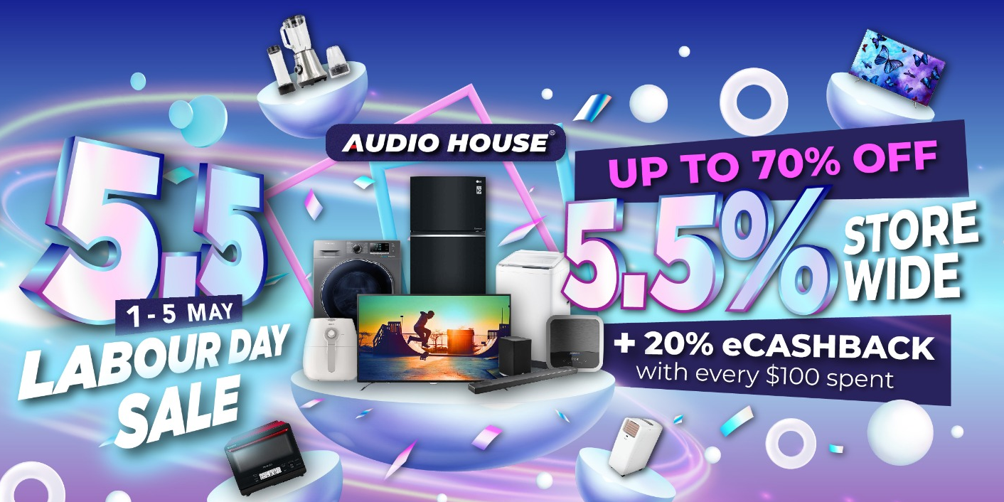 [Audio House Mayday Sale] Get 5.5% Storewide + Up to 70% OFF + $20 eCashback with Every $100 Spent!