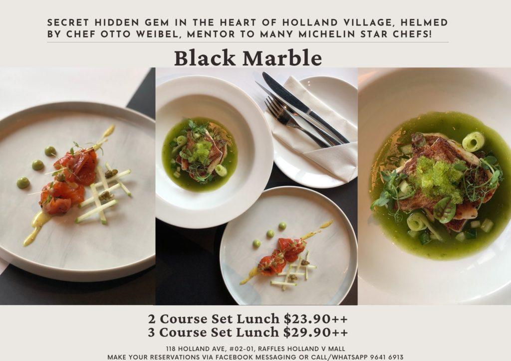 Black Marble a Secret Hidden Gem steak & grill restaurant, offers lunch sets from $23.90++!   Why Not Deals