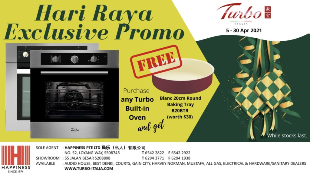 [Hari Raya Exclusive Promo] Free Blanc Baking Tray with Any Turbo Built-in Oven From Now to 30 Apr! | Why Not Deals
