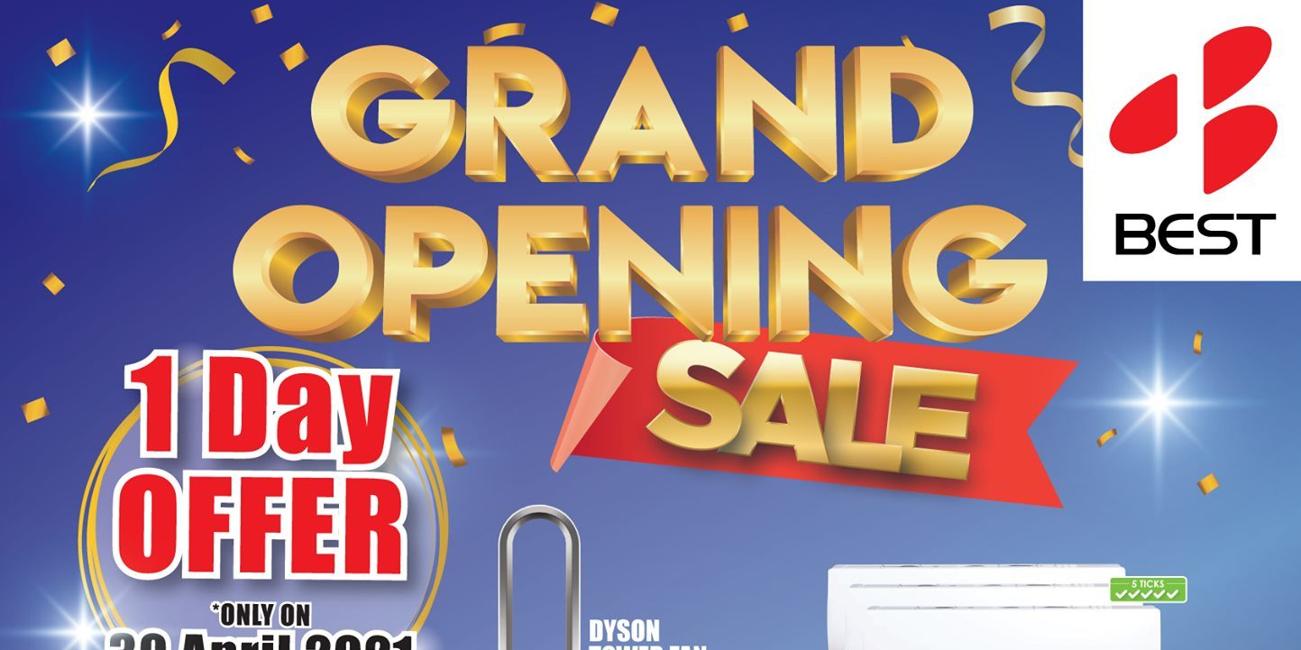 BEST Denki Singapore Plaza Singapura Grand Opening Sale Only On 30 Apr 2021