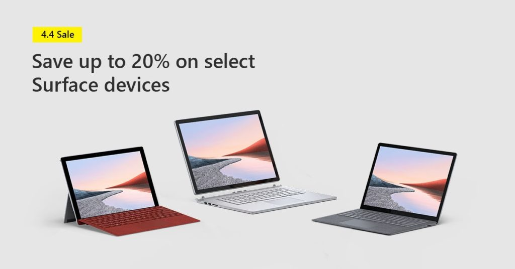 [Microsoft Store Singapore] 4.4 sale with exclusive online only deals for Microsoft Surface favourit | Why Not Deals