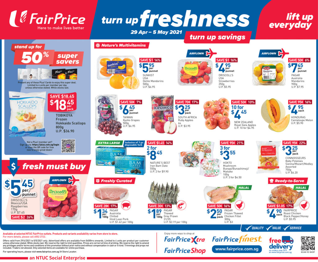 NTUC FairPrice Singapore Your Weekly Saver Promotions 29 Apr - 5 May 2021 | Why Not Deals 7